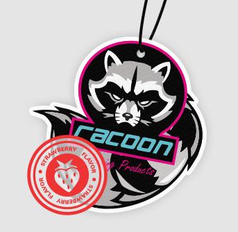 Racoon AIR FRESHENER (Free hanging)
